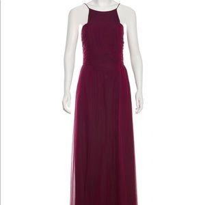 MaxMara Burgundy Silk Gown